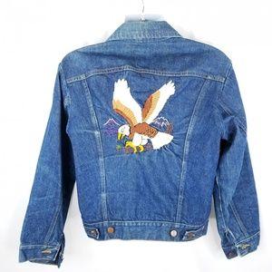 Vintage Wrangler Mens Sz Med Eagle Denim Jacket